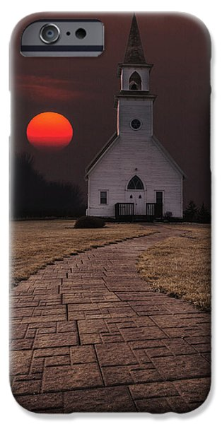 Sun iPhone Cases - Fort Belmont Sunset iPhone Case by Aaron J Groen