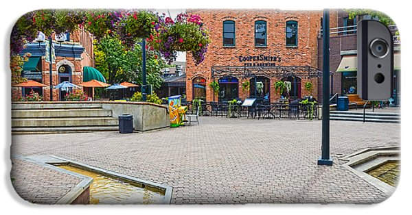Fort Collins iPhone Cases - Fort Collins Old Square iPhone Case by Keith Ducker