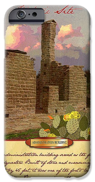 Historic Site iPhone Cases - Fort Griffin Historic Site iPhone Case by Jim Sanders