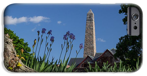 Griswold Ct iPhone Cases - Fort Griswold Monument iPhone Case by Kirkodd Photography Of New England