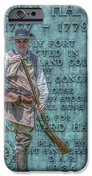 American Revolution Digital Art iPhone Cases - Fort Hand Pennsylvania Marker iPhone Case by Randy Steele