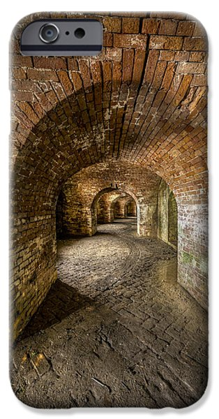 Fort Macomb Arches Vertical iPhone Case by David Morefield