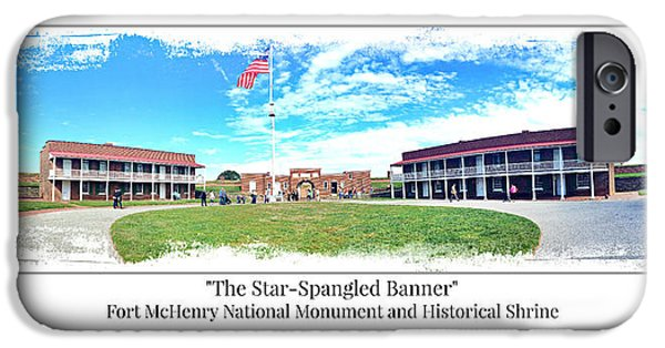 Old Glory iPhone Cases - Fort McHenry Panorama iPhone Case by Stephen Stookey