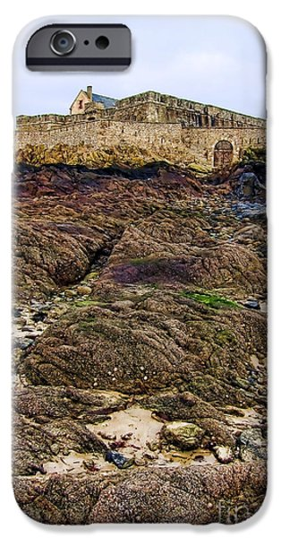 Fort National in Saint Malo Brittany iPhone Case by Olivier Le Queinec