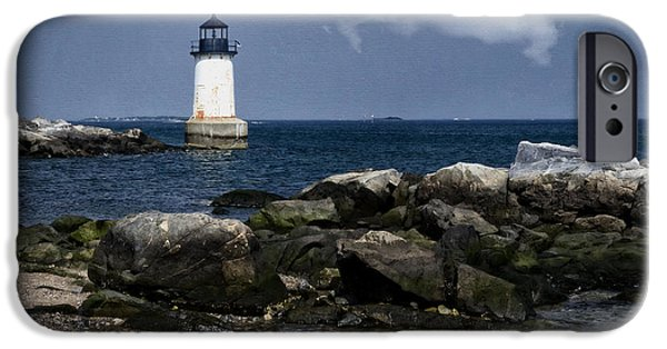 New England Lighthouse iPhone Cases - Fort Pickering Light iPhone Case by Joan Carroll