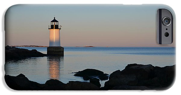 Oxford. Oxford Ma. Massachusetts iPhone Cases - Fort Pickering Lighthouse Winter Island Salem MA iPhone Case by Toby McGuire