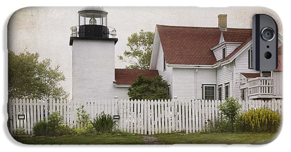 New England Lighthouse iPhone Cases - Fort Point Lighthouse iPhone Case by Joan Carroll