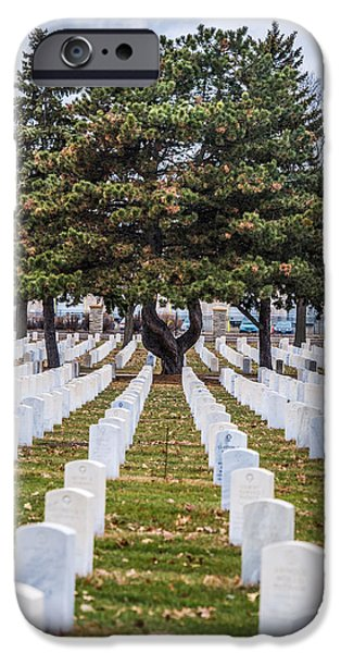 Cemetary iPhone Cases - Fort Snelling National Cemetery iPhone Case by Paul Freidlund