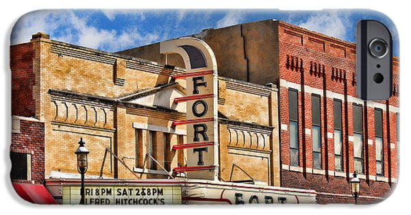 Nebraska iPhone Cases - Fort Theater iPhone Case by Sylvia Thornton