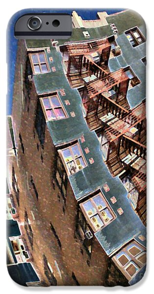 Fort Washington Avenue Building iPhone Case by Sarah Loft