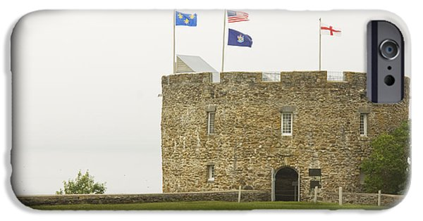 Strong America iPhone Cases - Fort William Henry Bristol Maine iPhone Case by Keith Webber Jr