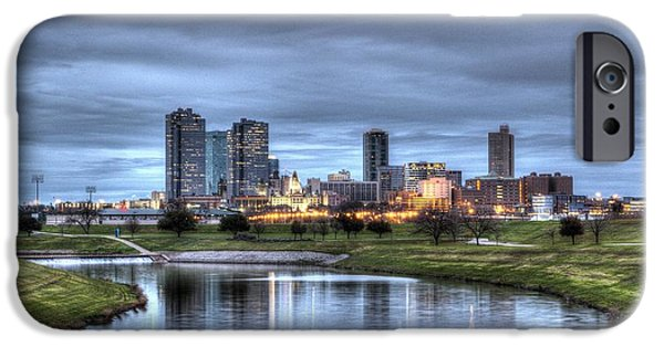 River iPhone Cases - Fort Worth Color iPhone Case by Jonathan Davison