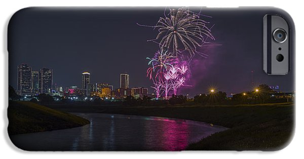 July 4th iPhone Cases - Fort Worth Fourth of July Fireworks iPhone Case by Jonathan Davison