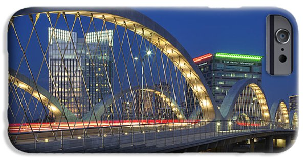7th iPhone Cases - Fort Worth Texas Images - Seventh Street Bridge 3 iPhone Case by Rob Greebon