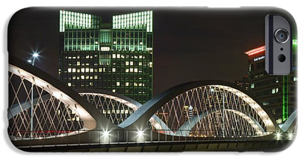 7th iPhone Cases - Fort Worth Texas Images - Seventh Street Bridge Panorama iPhone Case by Rob Greebon