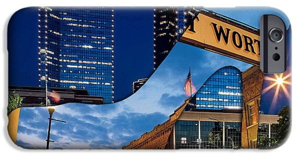 Architecture iPhone Cases - Fort Worth Texas iPhone Case by Marvin Blaine