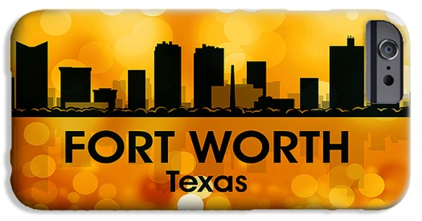 Buildings Mixed Media iPhone Cases - Fort Worth TX 3 iPhone Case by Angelina Vick