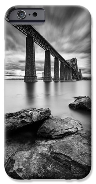 Dave iPhone Cases - Forth Bridge iPhone Case by Dave Bowman