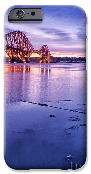 East iPhone Cases - Forth Rail Bridge iPhone Case by John Farnan