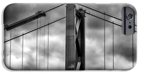 Canvas Photographs iPhone Cases - Forth Road Bridge iPhone Case by John Farnan