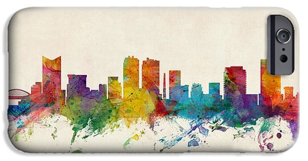 United States iPhone Cases - Fort Worth Texas Skyline iPhone Case by Michael Tompsett