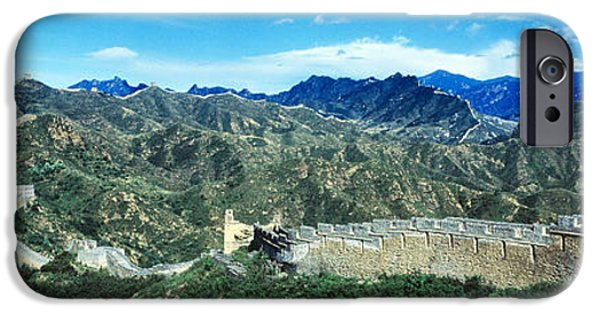 Beijing iPhone Cases - Fortified Wall On A Mountain, Great iPhone Case by Panoramic Images