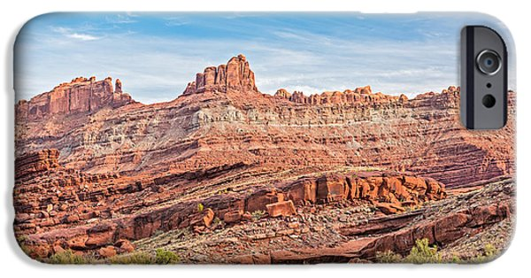 Erosion iPhone Cases - Fortress Utah iPhone Case by Duane Miller
