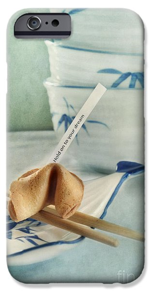 Life iPhone Cases - Fortune Cookie iPhone Case by Priska Wettstein