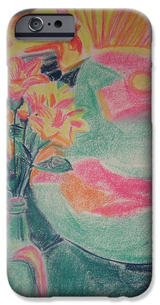 Vibrant Pastels iPhone Cases - Fortune Tellers Table iPhone Case by Charlene Leger