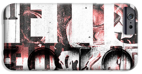 Copy Mixed Media iPhone Cases - Foto iPhone Case by Toppart Sweden