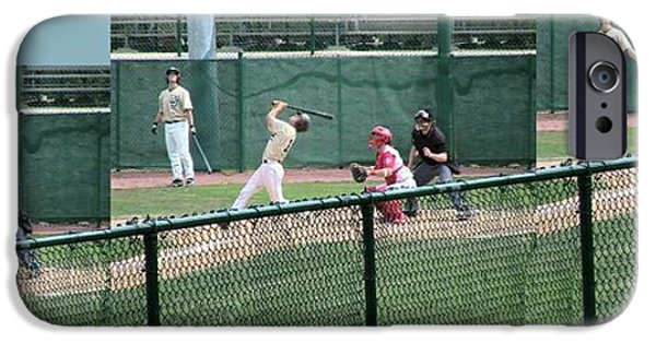 Baseball Glove iPhone Cases - Foul Ball 3 Panel Composite iPhone Case by Thomas Woolworth