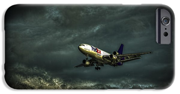 Approaching iPhone Cases - Foul Weather FedEx iPhone Case by Marvin Spates