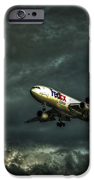 Foul Weather FedEx iPhone Case by Marvin Spates