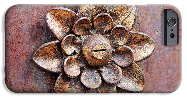 Rust iPhone Cases - Found Art in New York City iPhone Case by Rona Black