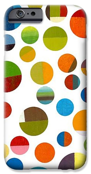 Colorful Abstract iPhone Cases - Found My Marbles 1.0 iPhone Case by Michelle Calkins