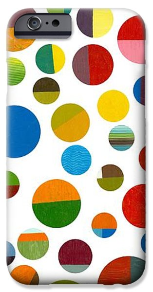 Colorful Abstract iPhone Cases - Found My Marbles 2.0 iPhone Case by Michelle Calkins
