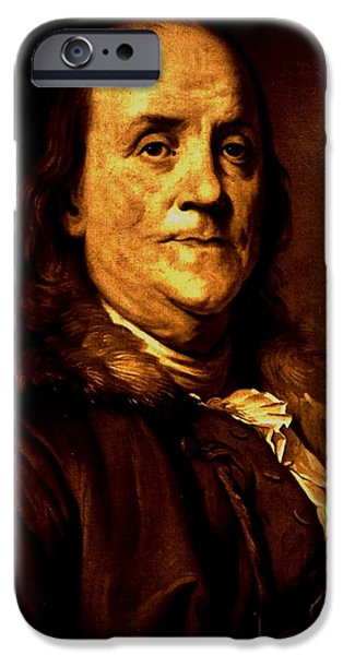 Constitution iPhone Cases - Founding Father iPhone Case by Benjamin Yeager