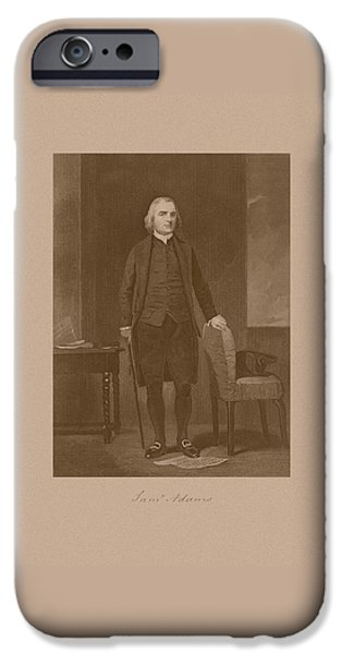 Founding Father Samuel Adams iPhone Case by War Is Hell Store