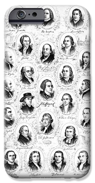 Founding Fathers 1876 iPhone Case by Padre Art