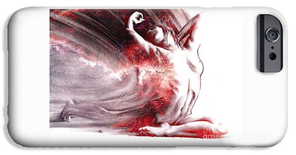 Figure iPhone Cases - Fount iv textured iPhone Case by Paul Davenport