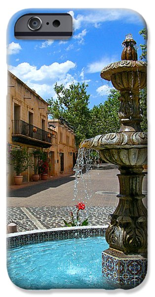 Oak Creek iPhone Cases - Fountain at Tlaquepaque Arts and Crafts Village Sedona Arizona iPhone Case by Amy Cicconi
