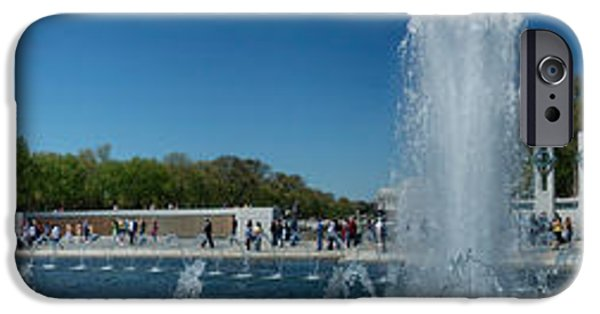 National Mall iPhone Cases - Fountain In A War Memorial, National iPhone Case by Panoramic Images