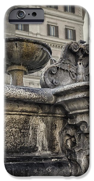 Santa iPhone Cases - Fountain of Santa Maria Maggiore iPhone Case by Joan Carroll