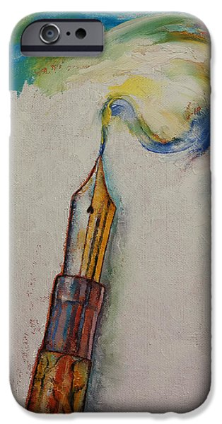 Michael iPhone Cases - Fountain Pen iPhone Case by Michael Creese