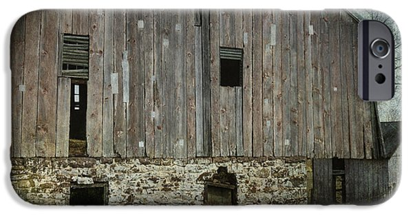 Shed iPhone Cases - Four Broken Windows iPhone Case by Joan Carroll