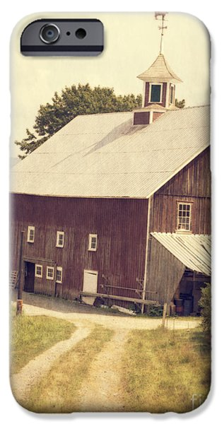Barns iPhone Cases - Four Corners Farm Vermont iPhone Case by Edward Fielding