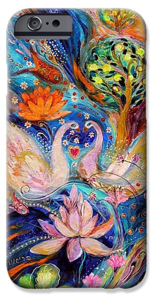Judaica Prints Paintings iPhone Cases - Four elements Water iPhone Case by Elena Kotliarker