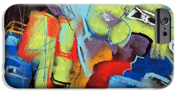 Concept Paintings iPhone Cases - Four-eyes iPhone Case by Katie Black