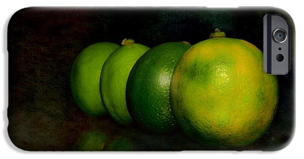 Recently Sold -  - Cut-outs iPhone Cases - Four limes iPhone Case by Toppart Sweden
