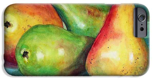 Pears iPhone Cases - Four Pears Art Blenda Studio iPhone Case by Blenda Studio